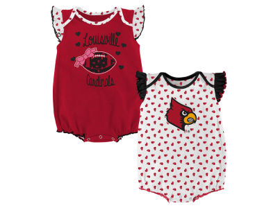Louisville Cardinals Outerstuff NCAA Newborn Girls Heart Fan Creeper Set