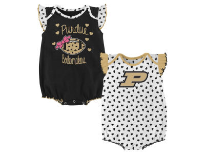 Purdue Boilermakers Outerstuff NCAA Newborn Girls Heart Fan Creeper Set
