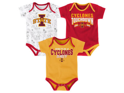 Iowa State Cyclones Outerstuff NCAA Newborn Playermaker 3 Piece Creeper Set