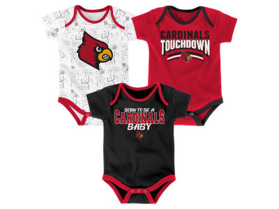 Louisville Cardinals Outerstuff NCAA Newborn Playermaker 3 Piece Creeper Set