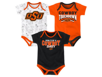 Oklahoma State Cowboys Outerstuff NCAA Newborn Playermaker 3 Piece Creeper Set
