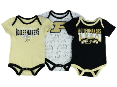 Purdue Boilermakers Outerstuff NCAA Newborn Playermaker 3 Piece Creeper Set