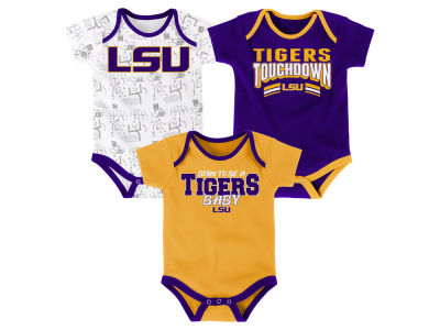 LSU Tigers Outerstuff NCAA Infant Playermaker 3 Piece Creeper Set