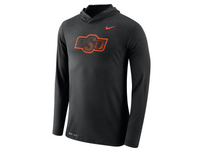 Oklahoma State Cowboys Nike NCAA Men's Dri-Blend Hooded Long Sleeve T-Shirt