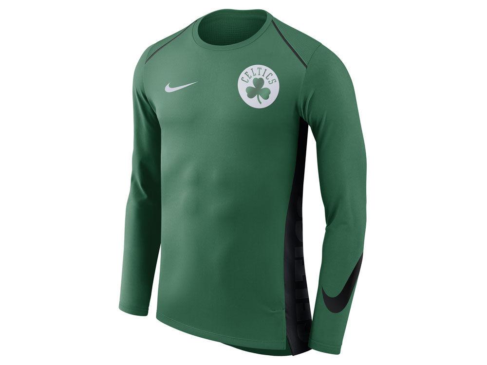 Boston Celtics Nike NBA Men s Hyperlite Long Sleeve Shooter T-shirt ... 93a98f6eb