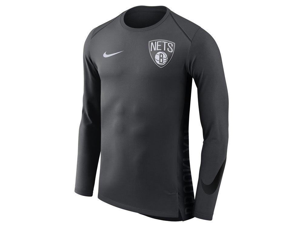 11e8108f3 Brooklyn Nets Nike NBA Men s Hyperlite Long Sleeve Shooter T-shirt