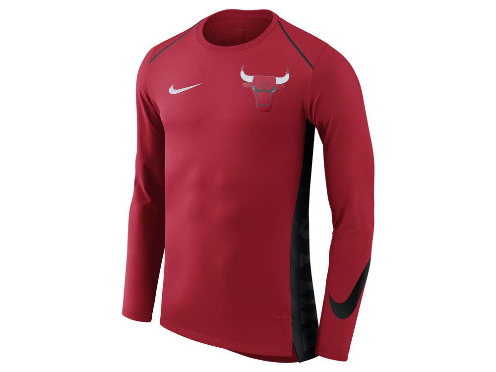 e17de777b Chicago Bulls Nike NBA Men s Hyperlite Long Sleeve Shooter T-shirt ...
