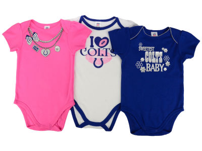 Indianapolis Colts Gerber NFL Infant Girls 3Pk Bodysuit
