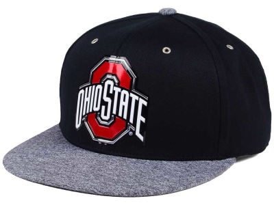 Ohio State Buckeyes J America NCAA Space Chrome Fitted Cap