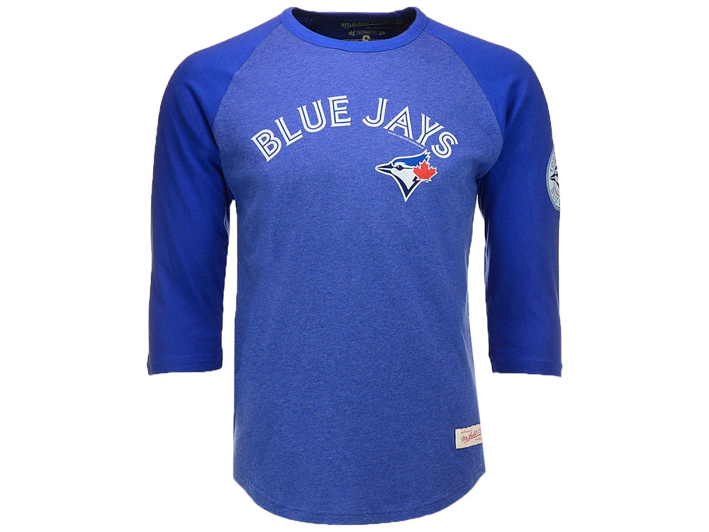 20011e894 ... toronto blue jays mitchell ness mlb mens scoring position raglan t shirt