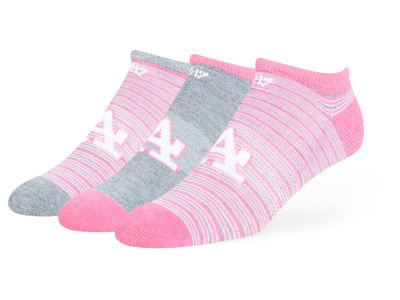 Los Angeles Dodgers Magenta Coastal No Show Socks - 3pk