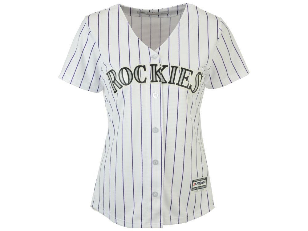 Colorado Rockies Majestic MLB Women s Cool Base Jersey  12839b2c6c