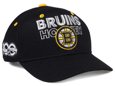 Boston Bruins adidas NHL 100th Celebration Structured Adjustable Cap