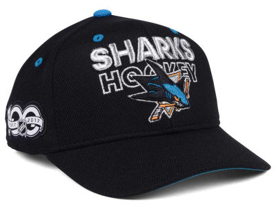 San Jose Sharks adidas NHL 100th Celebration Structured Adjustable Cap