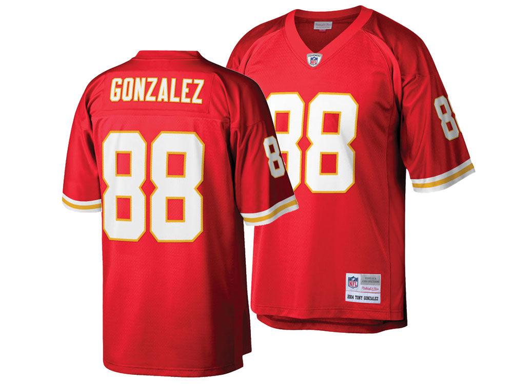 Kansas City Chiefs Tony Gonzalez Mitchell   Ness NFL Replica Throwback  Jersey  9b4ec7332