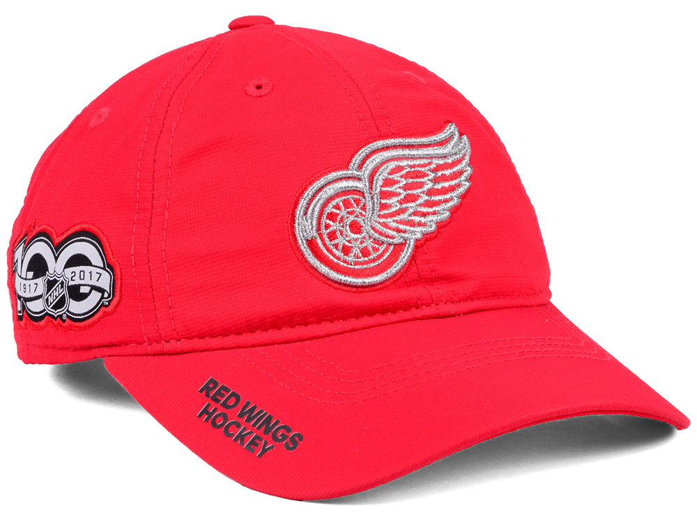 8ec92de8af4 usa detroit red wings adidas nhl 100th celebration relaxed adjustable cap  ed8a1 b1c95