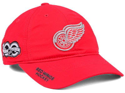 Detroit Red Wings adidas NHL 100th Celebration Relaxed Adjustable Cap