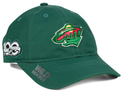 Minnesota Wild adidas NHL 100th Celebration Relaxed Adjustable Cap