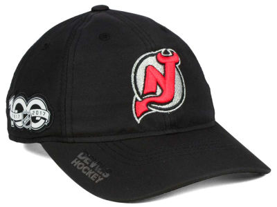 New Jersey Devils adidas NHL 100th Celebration Relaxed Adjustable Cap