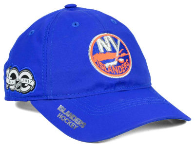 New York Islanders adidas NHL 100th Celebration Relaxed Adjustable Cap