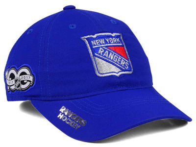 881e173a62a New York Rangers adidas NHL 100th Celebration Relaxed Adjustable Cap