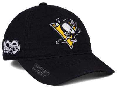 2c829215fd0 Pittsburgh Penguins adidas NHL 100th Celebration Relaxed Adjustable Cap