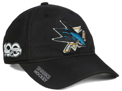 San Jose Sharks adidas NHL 100th Celebration Relaxed Adjustable Cap
