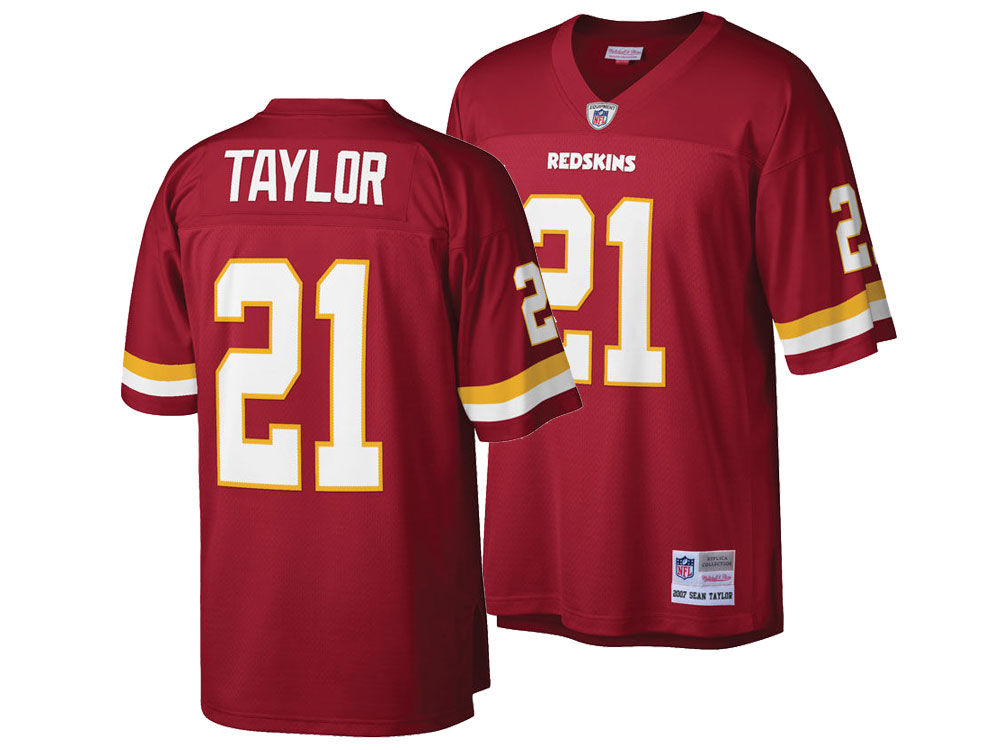 Washington Redskins Sean Taylor Mitchell   Ness NFL Replica Throwback Jersey 5fcb40bf4e38