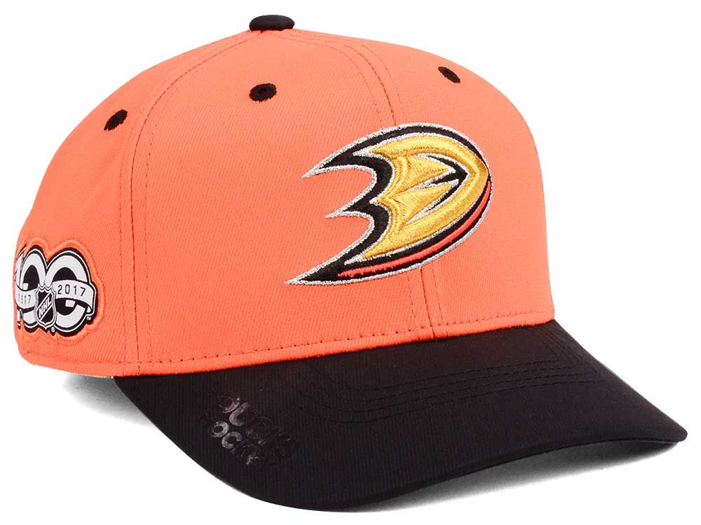 low priced 68fe0 c9e31 spain anaheim ducks adidas nhl 100th celebration structured flex cap bfdc4  67726