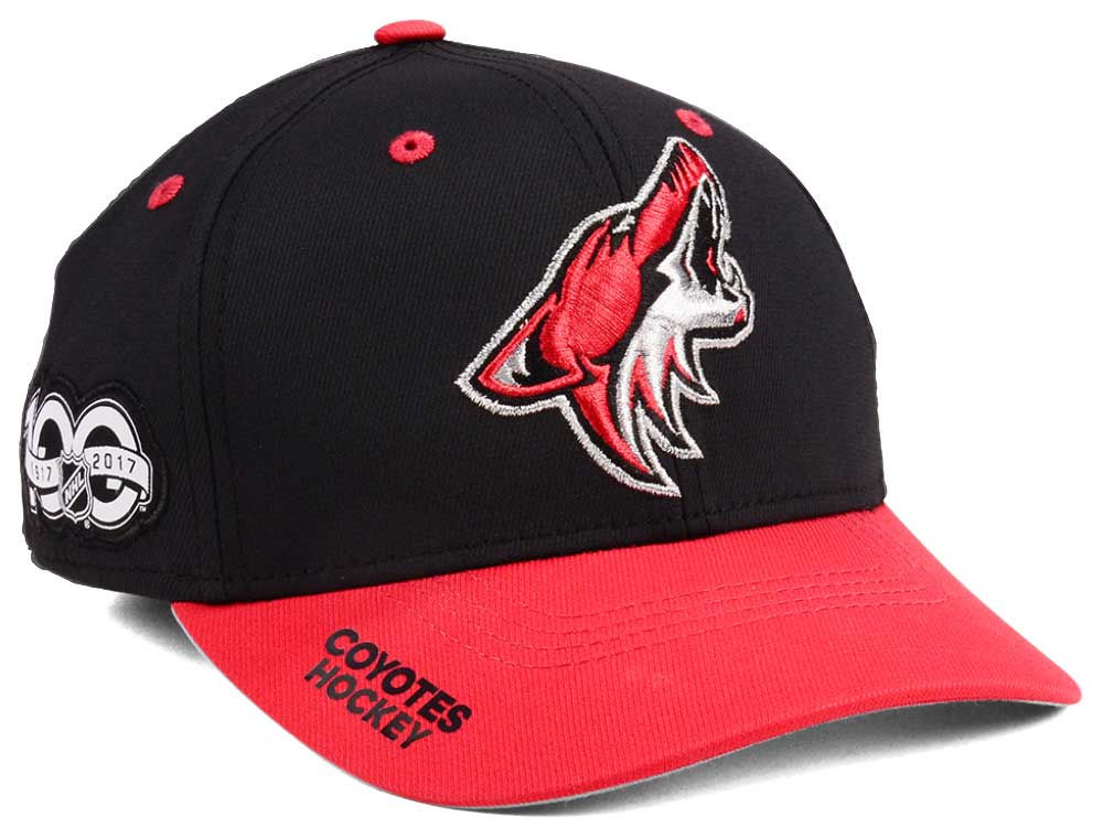 detailed pictures b5989 aafeb ... greece arizona coyotes adidas nhl 100th celebration structured flex cap  17651 b7a70