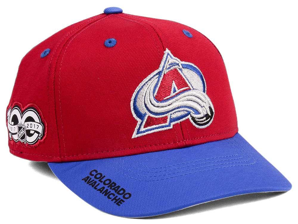 6a2a4fdd6 Colorado Avalanche adidas NHL 100th Celebration Structured Flex Cap | lids .com