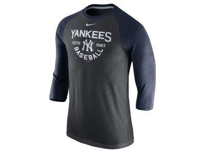 New York Yankees Nike MLB Men's Triblend 3/4 Raglan T-Shirt
