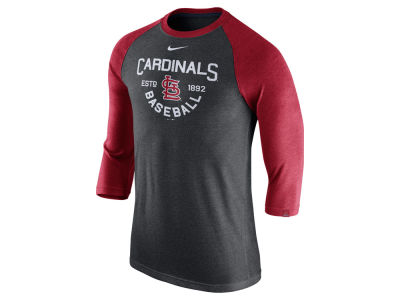 St. Louis Cardinals Nike MLB Men's Triblend 3/4 Raglan T-Shirt