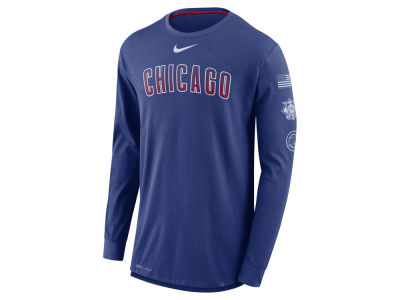 Chicago Cubs Nike MLB Men's Drop Tail Long Sleeve T-Shirt