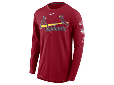 St. Louis Cardinals Nike MLB Men's Drop Tail Long Sleeve T-Shirt