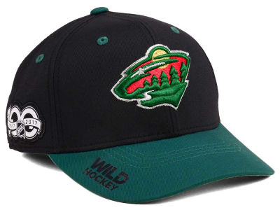 Minnesota Wild adidas NHL 100th Celebration Structured Flex Cap
