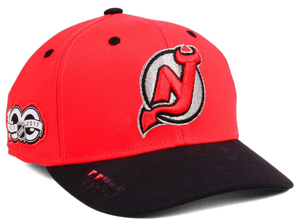 best website b4c32 76acc purchase new jersey devils adidas nhl 100th celebration structured flex cap  44bc4 726ab
