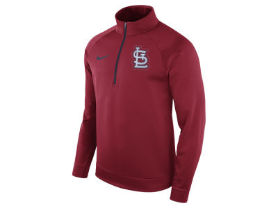 St. Louis Cardinals Nike MLB Men's Therma Half Zip Pullover