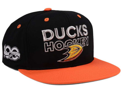 Anaheim Ducks adidas NHL 100th Celebration Snapback Cap