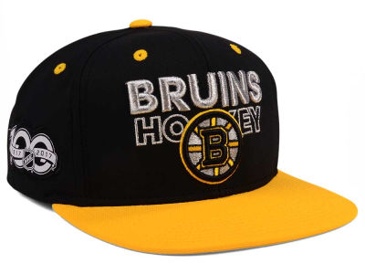 Boston Bruins adidas NHL 100th Celebration Snapback Cap