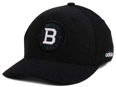 Boston Bruins adidas NHL Black Tonal 873 Flex Cap