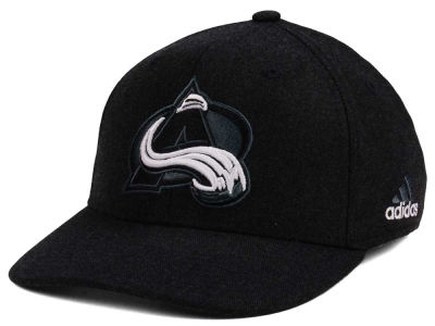 Colorado Avalanche adidas NHL Black Tonal 873 Flex Cap