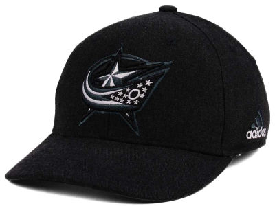 Columbus Blue Jackets adidas NHL Black Tonal 873 Flex Cap