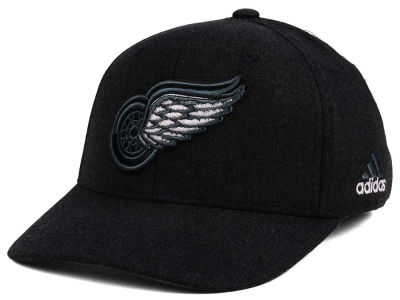 Detroit Red Wings adidas NHL Black Tonal 873 Flex Cap