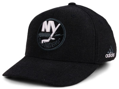 New York Islanders adidas NHL Black Tonal 873 Flex Cap