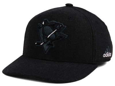 Pittsburgh Penguins adidas NHL Black Tonal 873 Flex Cap
