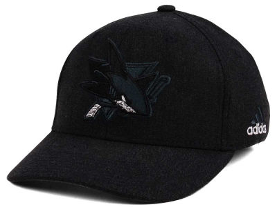 San Jose Sharks adidas NHL Black Tonal 873 Flex Cap