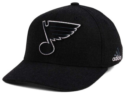 St. Louis Blues adidas NHL Black Tonal 873 Flex Cap