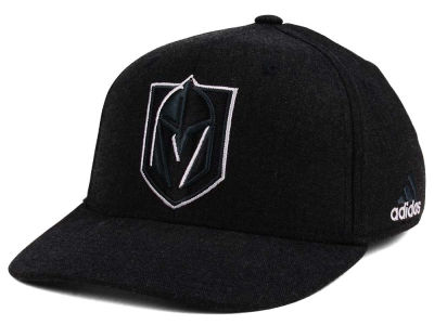 Vegas Golden Knights adidas NHL Black Tonal 873 Flex Cap