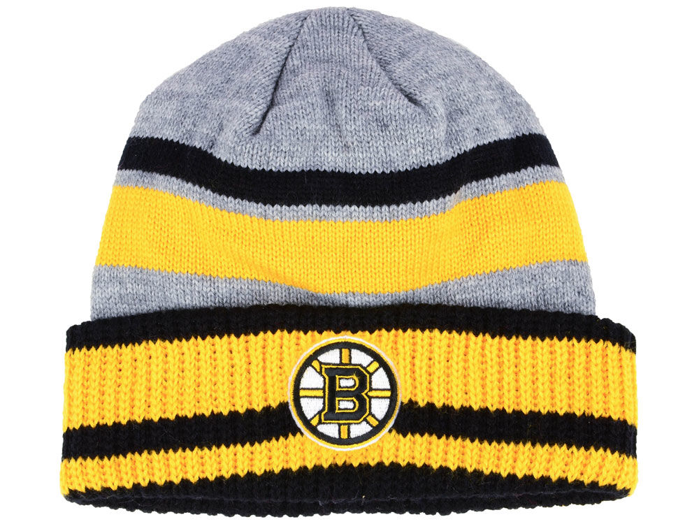 92a5fc3a4 Boston Bruins adidas NHL Heathered Grey Beanie